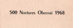 500 nocturnes d'Obernai 1968 Fiche technique : 5ème édition, 10 Novembre 1968. Pierre Mény – Marius Jene Ford Escort mk1 Bibliographie : Photos Adolphe CONRATH Collection P. MENY
