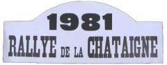 XIVème Rallye de la Châtaigne 1981 Fiche technique : 14ème édition, 10-11 octobre 1981. Résultats : Pierre MÉNY – Jean-François LIÉNÉRÉ #07 Renault 5 Turbo Groupe 4 1er du Classement général 1°MENY-LIENERE /R5 TURBO GR4 2°FRONDAS -LEVIVIER /PORSCHE 911SC 2,7L GR3 3°LEGRAND-ROULLOT /OPEL KADETT GTE GR1