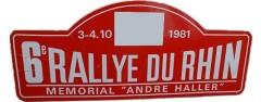 VIème Rallye du Rhin 1981 Fiche technique : 6ème édition, 3 & 4 octobre 1981. Résultats : Pierre MÉNY – Jean-François LIÉNÉRÉ Renault 5 Turbo Groupe 4#1 1er du Classement général 1° MENY-LIENERE / R5 TURBO GR4 2° ROLLER-GAGNIERE / FORD ESCORT 2000 RS GR2 3° GOESEL-MOCK /TALBOT LOTUS GR2