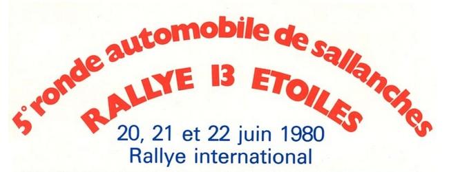 Vème Ronde de Sallanches 1980 20, 21 & 22 Juin 1980 Pierre MENY – Jean-François LIENERE Renault Alpine A310 V6 Groupe IV #10 Classement : 1°SAVARY-CORNAZ / PORSCHE 911 SCGR4 2°CHENEVIERE-MORAND /PORSCHE 911 SC GR4 3°BALMER-FREIBURGAU /PORSCHE 911 GR3 4°MENY-LIENERE / A310 V6 GR4