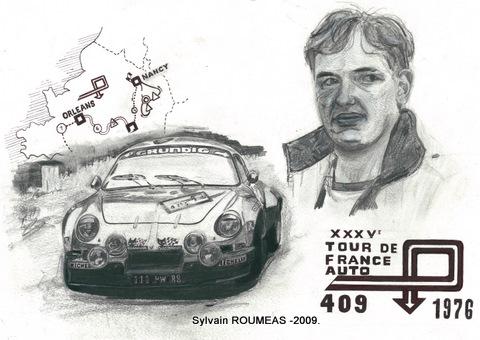 Pierre Mény Tour de France 1976 - Dessin Sylvain ROUMEAS