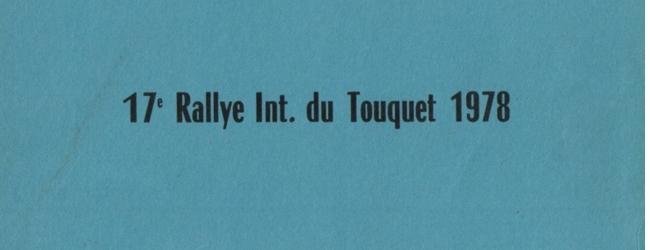 XVIIème Rallye du Touquet 1978 Fiche technique : 17ème édition, 6 juin 1978. Résultats : Pierre MÉNY – Jean François LIÉNÉRÉ Alpine A310 V6 Groupe 4 n°16 Abandon : Moteur, joint de culasse 1°MALBRAN-WOELFFLE / PORSCHE CARRERA 3L GR3 2°FLOUR-FOUILLOUSE / PORSCHE CARRERA 3L GR4 3°SANSON-CHAMPEAUX / PORSCHE CARRERA 2,8L GR4 Bibliographie : Reportage sportif Adolphe CONRATH – Collection Pierre MENY. [ifram src=»http://guillaume.roumeas.online.fr/galerie/index.php?rep=saison%201978%2Ftouquet-1978″ height=»6400″]